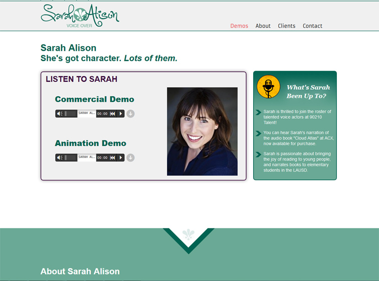 Sarah Alison Voice Overs