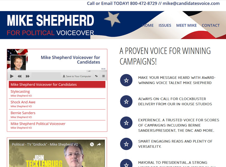 Mike Shepherd political voiceover