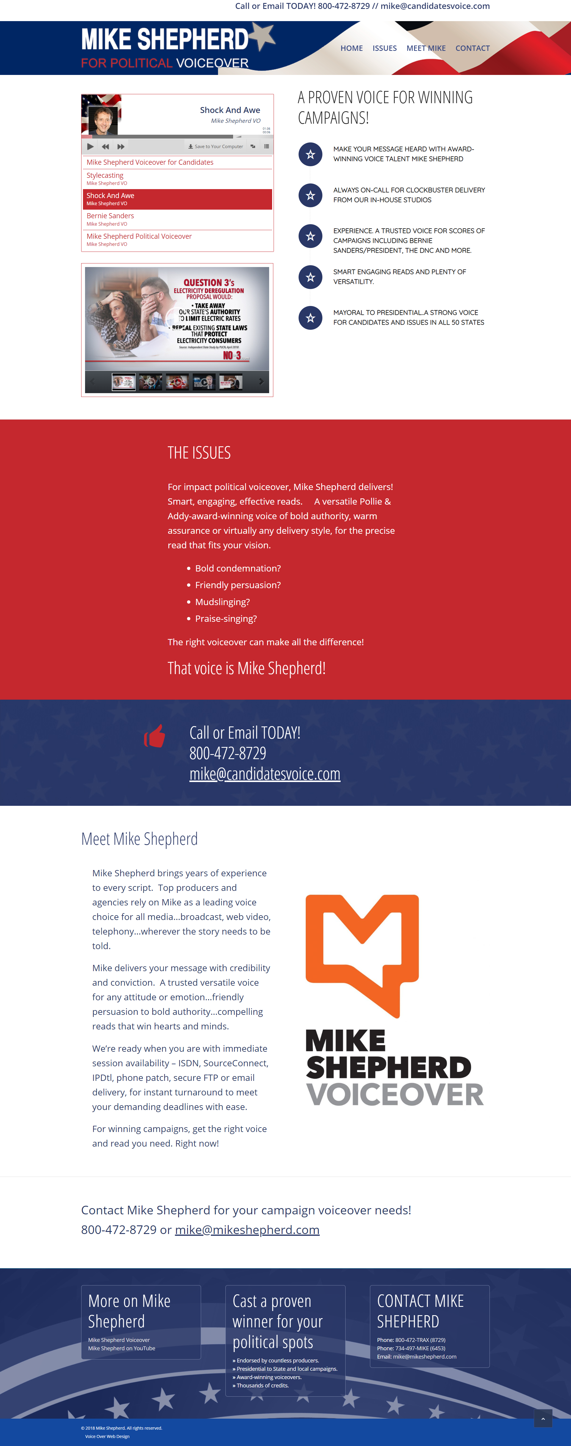 Voice Over Web Design